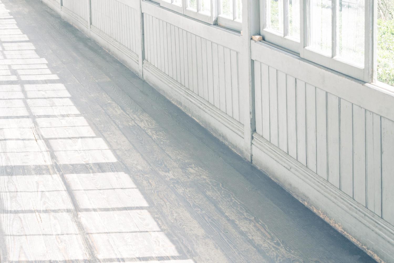 学校、廊下