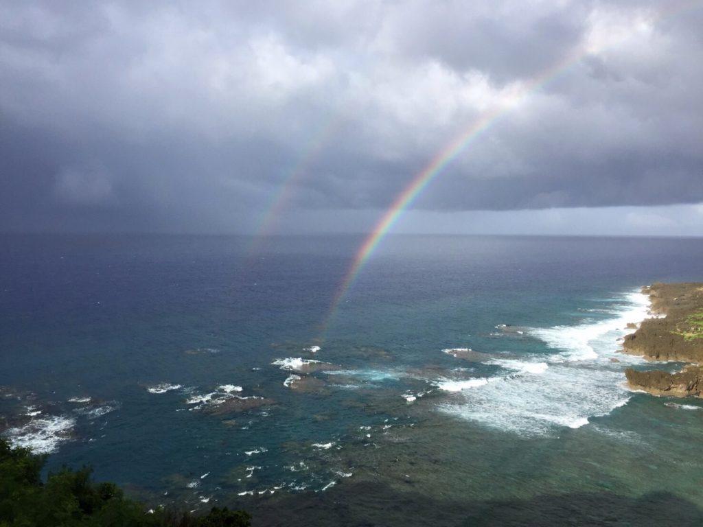 与論島の虹