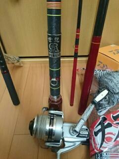泳がせ釣り用竿とリール