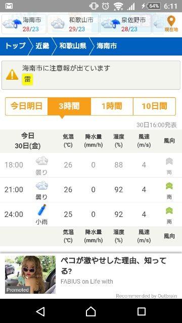 天気予報「tenki.jp」